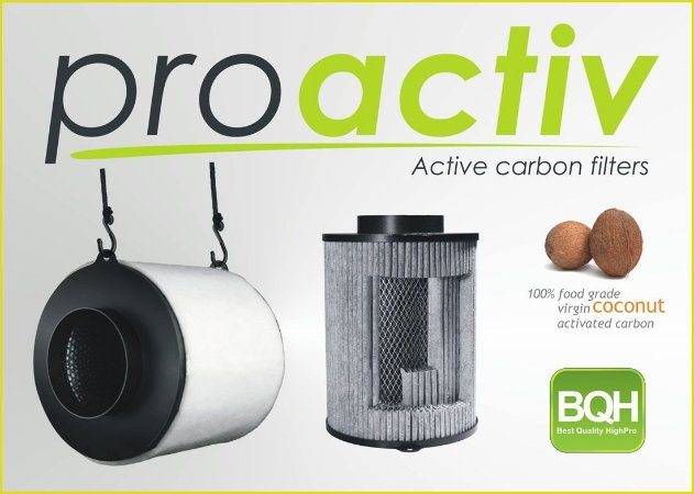 Filtro de Carvão Proactiv 125mm/400m³/h