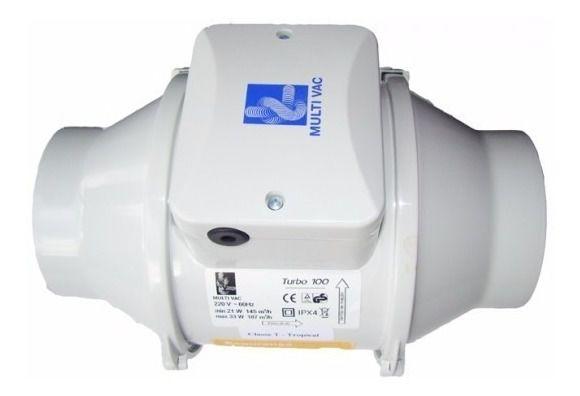 Exaustor Axial Em Linha Turbo 100 220V