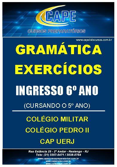APOSTILA GRAMÁTICA-EXERCÍCIOS-6º ANO - IMPRESSO