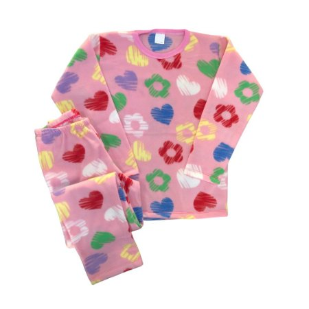Pijama Infantil Soft CORAÇÕES COLOR ROSA