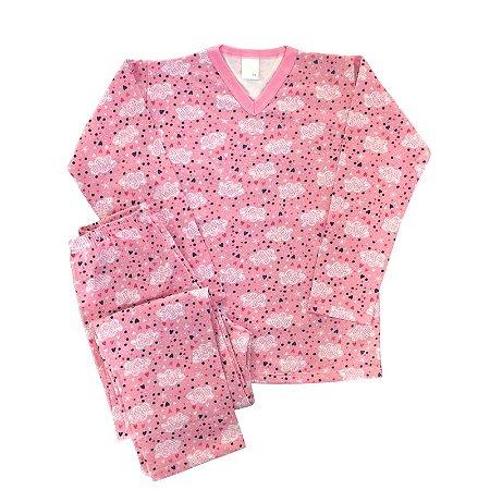 Pijama Flanela NUVENS ROSA