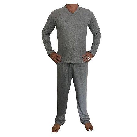 Pijama Papai Cinza Mescla