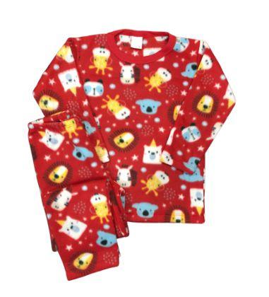 Pijama Infantil Soft SAFARI RED