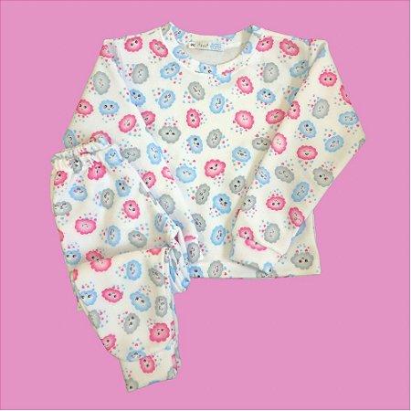 Pijama Infantil Soft Punho NUVENS