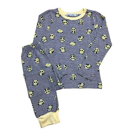 Pijama Infantil Manga Longa SLIM PANDAS