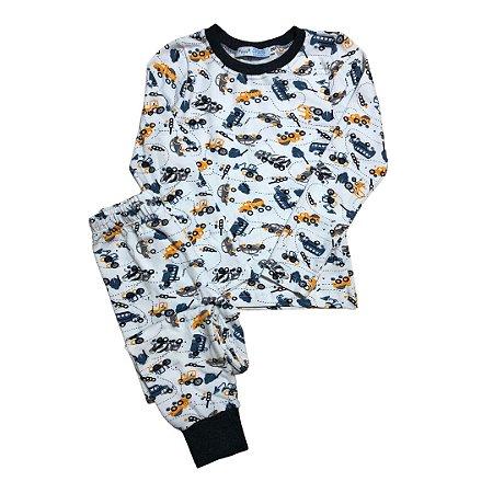 Pijama Infantil SLIM TRUCKS ORANGE