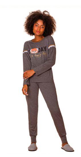 Pijama Feminino Jogging Grey