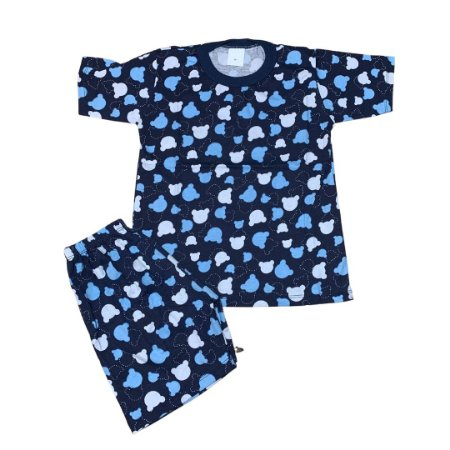 Pijama Infantil 100% Algodão Manga Curta MICKEY MARINHO