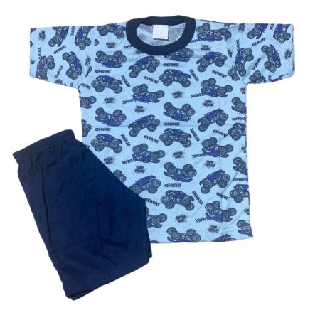 Pijama Infantil Malha Fria MONSTER TRUCK