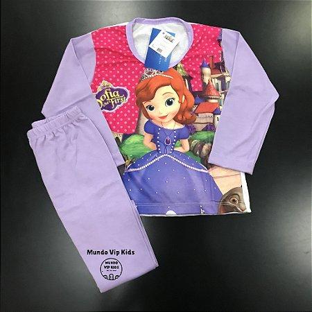 Pijama Infantil PRINCESA SOFIA LILÁS