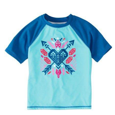 Camiseta Infantil Proteção Solar Coração
