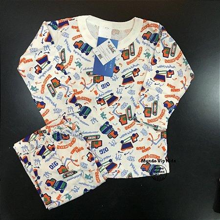Pijama Infantil 100% Algodão CAMINHÕES