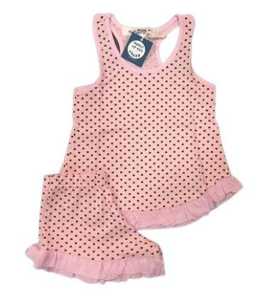 Pijama Infantil 100% Algodão Short Doll CORAÇÕES