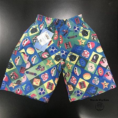 Short Infantil Tactel Mario Bros