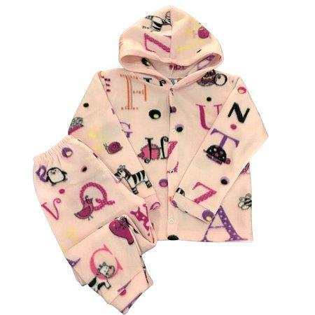 Pijama Infantil SOFT Capuz Punho LETRAS