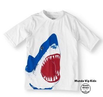 Camiseta Infantil Proteção Solar Tubarão