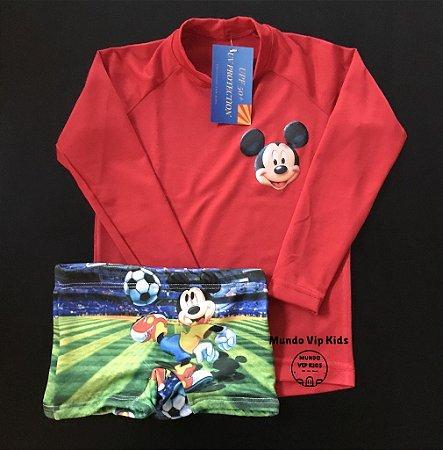 Cjto Infantil Proteção Solar Mickey Futebol