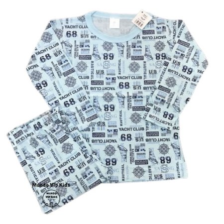 Pijama Infantil 100% Algodão MARINE