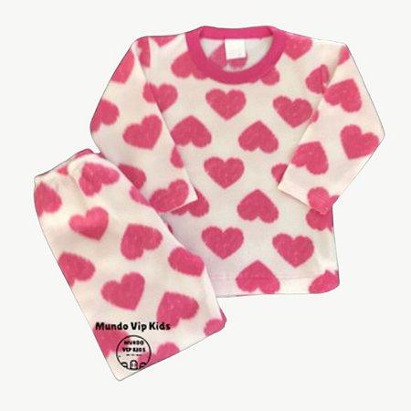 Pijama Infantil Soft CORAÇÕES