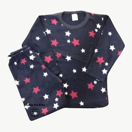 Pijama Infantil Soft MARINHO ESTRELAS PINK