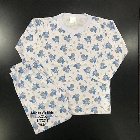 Pijama Infantil 100% Algodão SUPER TIGRE AZUL