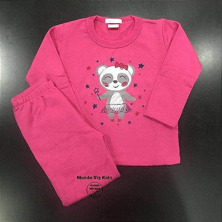 Conjunto Moletom Flanelado Bailarine Pink