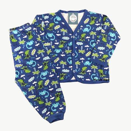 Pijama Flanela Botões Baby DINOS