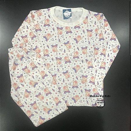 Pijama Infantil 100% Algodão ELEFANTES