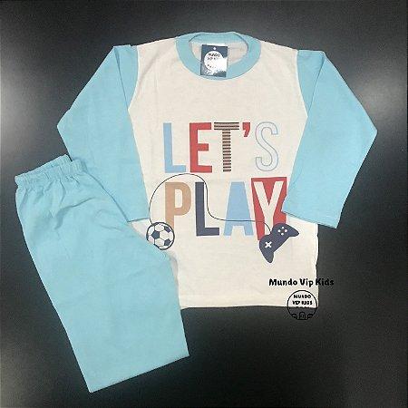 Pijama Infantil 100% Algodão LET'S PLAY