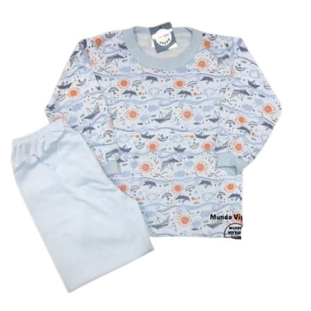 Pijama Infantil Malha Fria MARINE