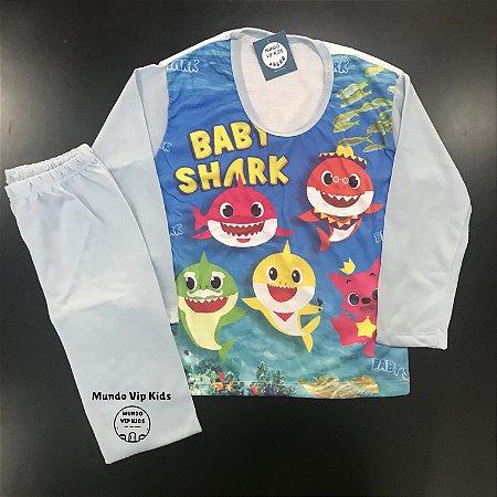 Pijama Infantil BABY SHARK AZUL CLARO