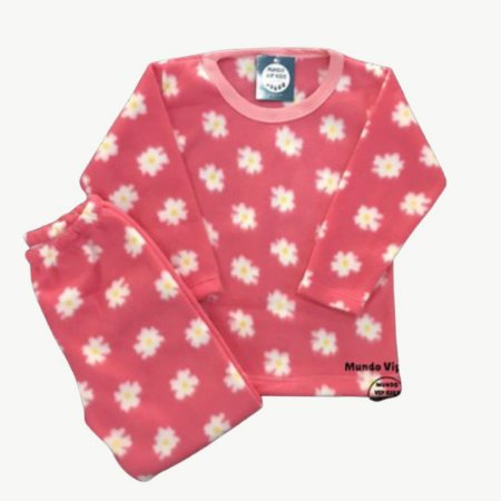 Pijama Infantil Soft MARGARIDAS ROSA