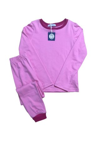 Pijama Infantil SLIM Rosa Manga Longa