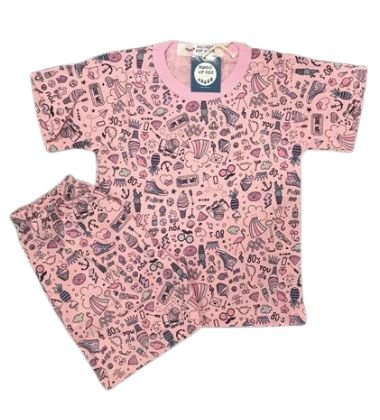 Pijama Infantil 100% Algodão Manga Curta BEAR