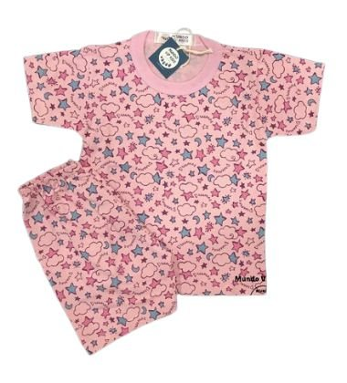 Pijama Infantil 100% Algodão Manga Curta DREAMER