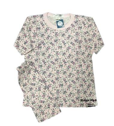 Pijama Infantil 100% Algodão Manga Curta DOGS