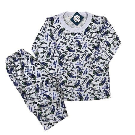 Pijama Infantil 100% Algodão SKATE