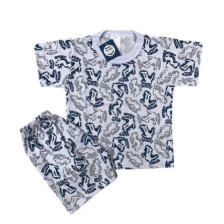 Pijama Infantil 100% Algodão Maga Curta EXTREME SKATE