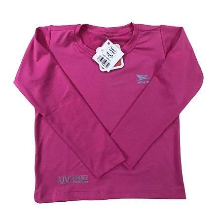 Camiseta Infantil Proteção Solar UPF 50+ Rosa