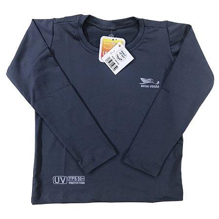 Camiseta Infantil Proteção Solar UPF 50+ Cinza