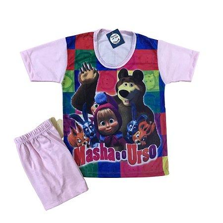 Pijama Infantil MARSHA E O URSO