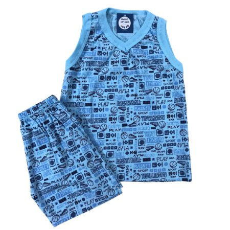 Pijama Infantil 100% Algodão Regata PLAY BASKET