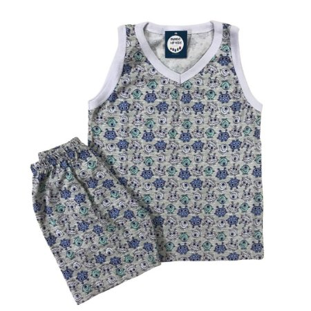 Pijama Infantil 100% Algodão Regata MONSTRINHOS
