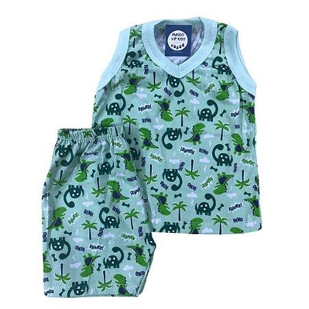 Pijama Infantil 100% Algodão Regata DINOS