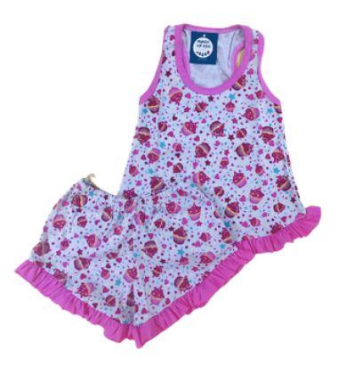 Pijama Infantil 100% Algodão Short Doll CUP CAKES