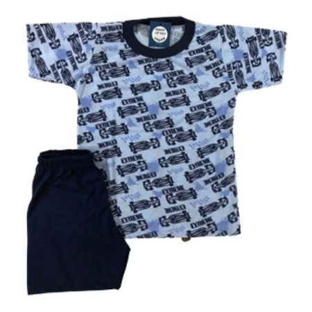 Pijama Infantil Malha Fria FÓRMULA 1