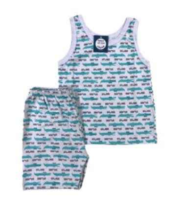 Pijama Infantil 100% Algodão Regata DINOS ROARR