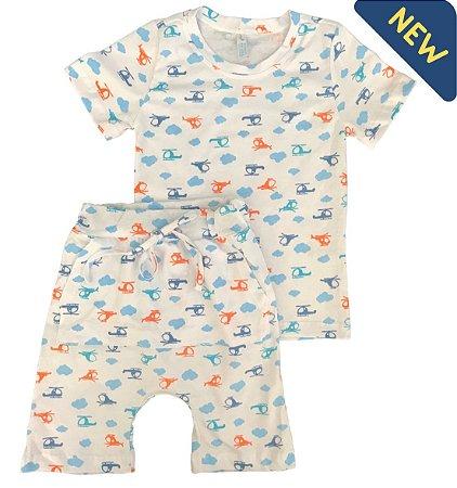 Pijama Infantil SARUEL HELICÓPTEROS