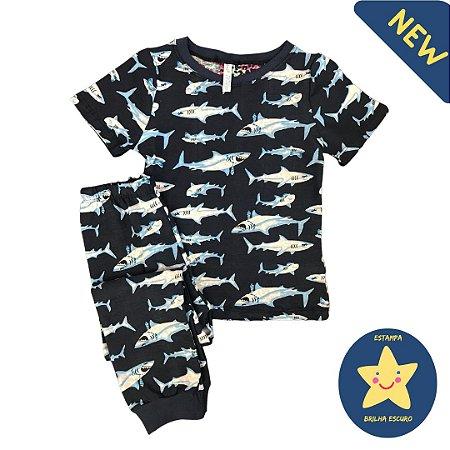 Pijama Infantil SLIM SHARK BRILHA ESCURO