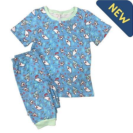 Pijama Infantil SLIM TUBARÕES PRANCHA